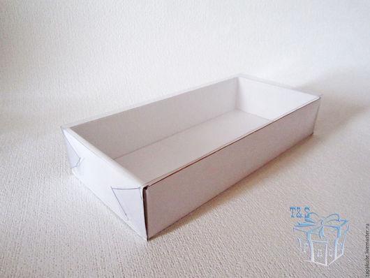 Упаковка ручной работы. Ярмарка Мастеров - ручная работа. Купить Коробка, 240х110х45 мм, с прозрачной крышкой, мгк, белый, крафт. Handmade.