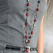 Украшения handmade. Livemaster - original item Stylish with pendant Burgundy, olive