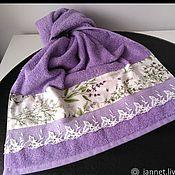 Для дома и интерьера handmade. Livemaster - original item BOUQUET of LAVENDER - Terry towel. Handmade.