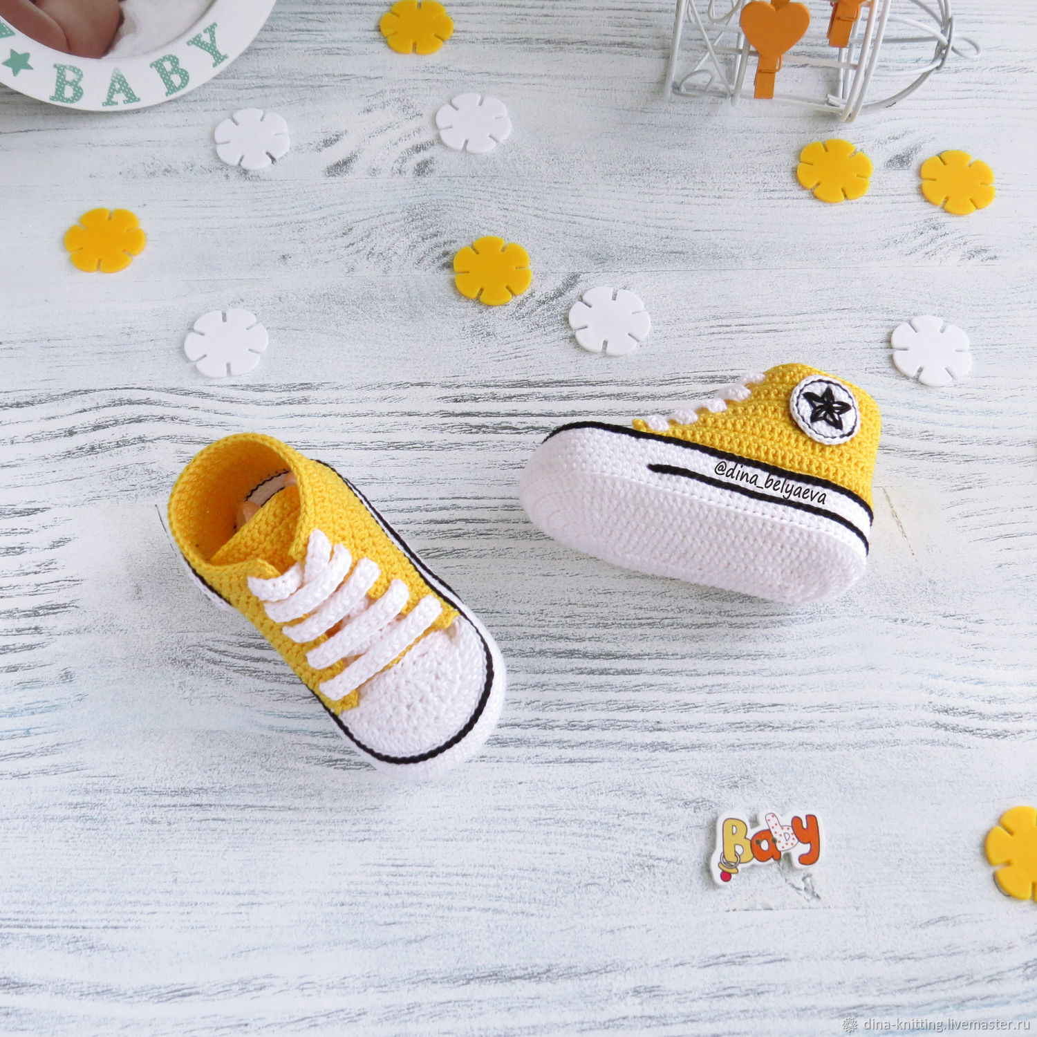 Knitted Booties Converse Sneakers Yellow Booties Shop Online On