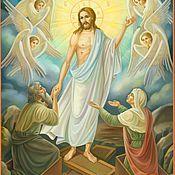 Иконы ручной работы. Ярмарка Мастеров - ручная работа Икона Воскресение Христово. Handmade.
