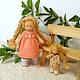 Вальдорфская игрушка ручной работы. Заказать Малышка с кукленком, 13 см и 7 см. svetlana. Ярмарка Мастеров. Игровая кукла