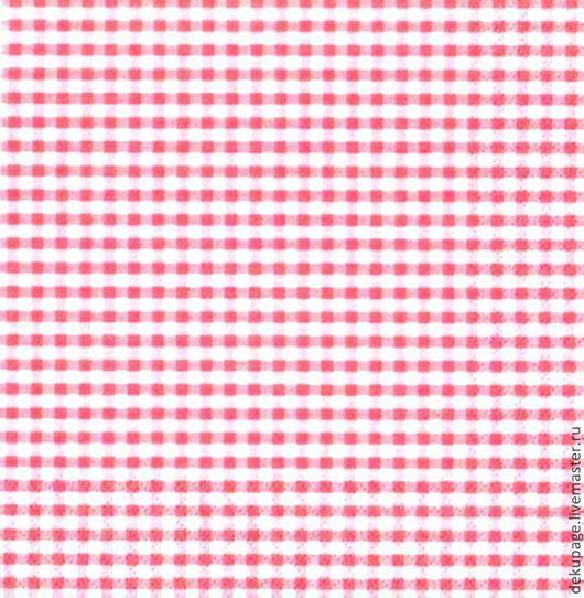 Декупаж и роспись ручной работы. Ярмарка Мастеров - ручная работа. Купить ост 1 шт Салфетка ярко-розовая клетка. Handmade.
