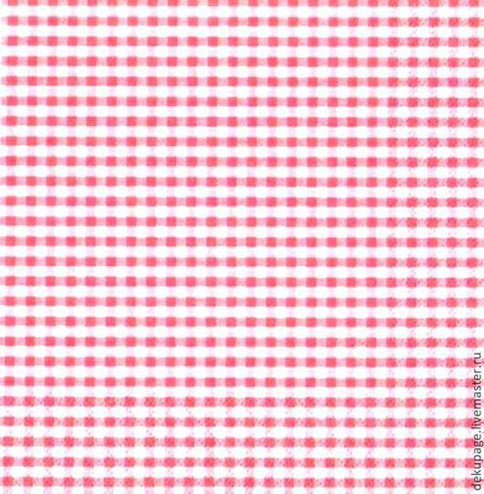 Декупаж и роспись ручной работы. Ярмарка Мастеров - ручная работа. Купить Салфетка ярко-розовая клетка. Handmade. Салфетка, Декупаж