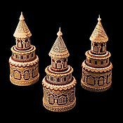 Для дома и интерьера handmade. Livemaster - original item Chapel of birch bark and wood. Jewelry box for rings, chains, pendants. Handmade.
