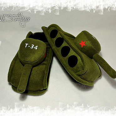 Footwear handmade. Livemaster - original item Slippers-tanks. Handmade.