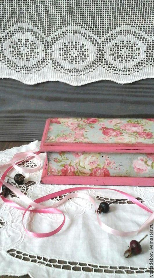 Шкатулки ручной работы. Ярмарка Мастеров - ручная работа. Купить Шкатулка  Винтажные розы ,в стиле шебби,в винтажном стиле. Handmade.