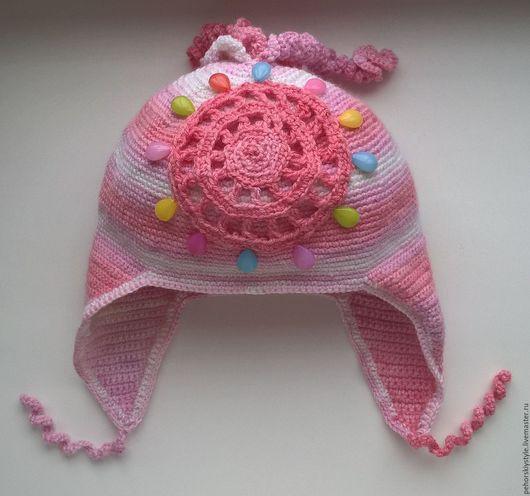 Шапки и шарфы ручной работы. Ярмарка Мастеров - ручная работа. Купить Детская вязаная шапка. Handmade. Детская вязаная шапка