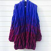 Одежда ручной работы. Ярмарка Мастеров - ручная работа Кардиган в стиле Лало градиент из кос. Handmade.