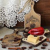 Посуда handmade. Livemaster - original item A set of cutting/cheese boards pine