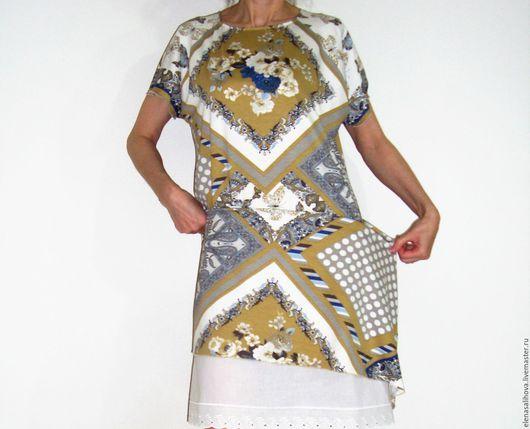 Платья ручной работы. Ярмарка Мастеров - ручная работа. Купить Платье миди Бабочки миди. Handmade. Комбинированный, платье коктейльное