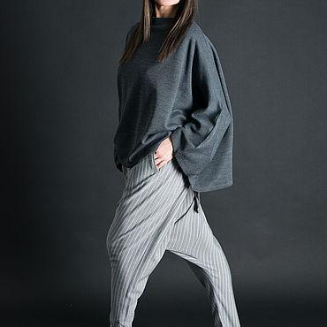 Clothing handmade. Livemaster - original item Stylish cotton harem pants free cut - PA0741CT. Handmade.