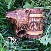 Посуда handmade. Livemaster - original item Mug beer wooden carved