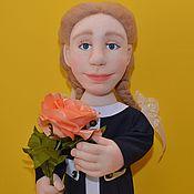 """Куклы и игрушки ручной работы. Ярмарка Мастеров - ручная работа Кукла """" Школьница"""". Кукла в технике скульптурный текстиль.. Handmade."""