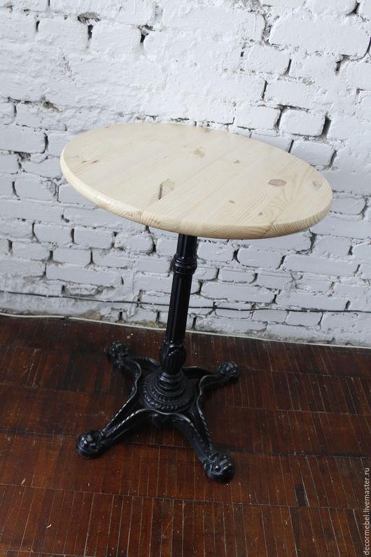 Мебель ручной работы. Ярмарка Мастеров - ручная работа. Купить Круглый стол чугунное основание. Handmade. Стол, кованые изделия