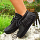 Обувь ручной работы. Ярмарка Мастеров - ручная работа. Купить Стильные кожаные ботиночки «Positive Black». Handmade. Черный