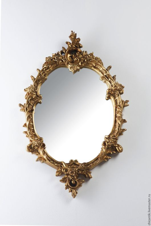 Винтажные предметы интерьера. Ярмарка Мастеров - ручная работа. Купить Старинное зеркало в стиле Луи ХV. 19 век. Handmade.