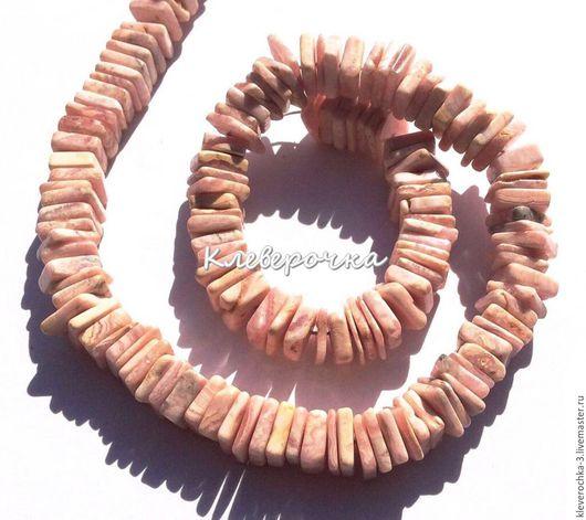 Для украшений ручной работы. Ярмарка Мастеров - ручная работа. Купить Родохрозит 5-7 мм чипсы квадрат рондель гладкий бусины. Handmade.