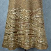 """Одежда ручной работы. Ярмарка Мастеров - ручная работа юбка валяная """"Зимние миражи"""". Handmade."""