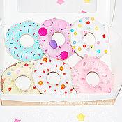 Куклы и игрушки handmade. Livemaster - original item Sweets from felt-a set of donuts. Handmade.