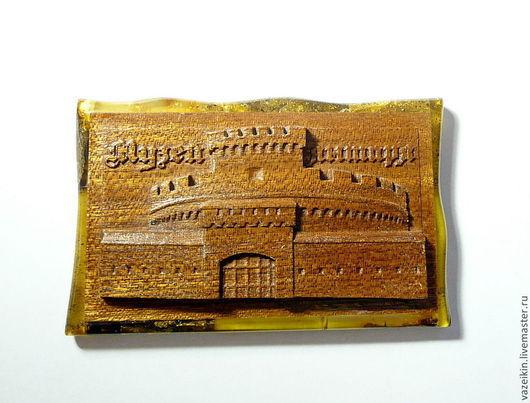 Город ручной работы. Ярмарка Мастеров - ручная работа. Купить Музей янтаря в Калининграде. Handmade. Желтый, дерево, спасская башня