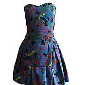 Платья ручной работы. Ярмарка Мастеров - ручная работа Платья: Джинсовое платье-корсет. Handmade.
