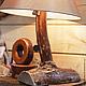 Освещение ручной работы. Ярмарка Мастеров - ручная работа. Купить Большой светильник в природном стиле. Handmade. Разноцветный, авторская работа