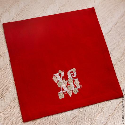 Подарки на Пасху ручной работы. Ярмарка Мастеров - ручная работа. Купить Красная салфетка на Пасху. Handmade. Салфетка пасхальная, Пасха