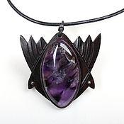 Украшения handmade. Livemaster - original item Pendant-necklace with amethyst. Handmade.