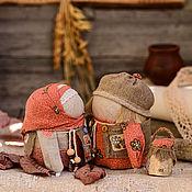 """Куклы и игрушки handmade. Livemaster - original item Куклы обереги КРУПЕНИЧКА и БОГАЧ ПОДОСИНОВИКИ"""". Handmade."""