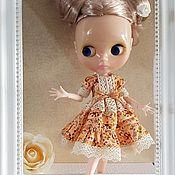 Одежда для кукол ручной работы. Ярмарка Мастеров - ручная работа Одежда для кукол: Платье с кружевом для Блайз, бохо платье. Handmade.