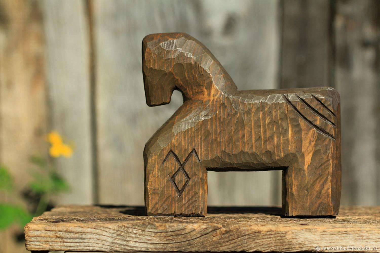 Коник игрушка-сувенир в русском стиле деревянный, Народные сувениры, Коломна,  Фото №1