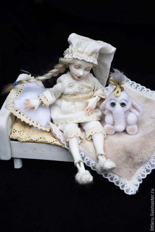 Коллекционные куклы ручной работы. Ярмарка Мастеров - ручная работа. Купить Ленор, фарфоровая болтушка. Handmade. Белый