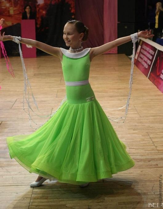 """Детские танцевальные костюмы ручной работы. Ярмарка Мастеров - ручная работа. Купить Платье """"Весна"""". Handmade. Ярко-зелёный, стандарт"""