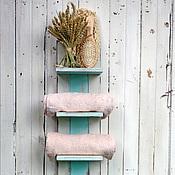 Для дома и интерьера ручной работы. Ярмарка Мастеров - ручная работа Полочка для полотенец бирюзовая. Handmade.