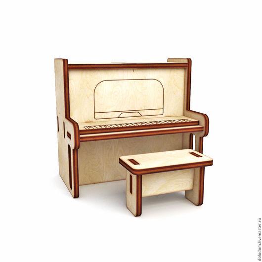 Куклы и игрушки ручной работы. Ярмарка Мастеров - ручная работа. Купить КНМ-0000052 Пианино. Handmade. Заготовки для творчества
