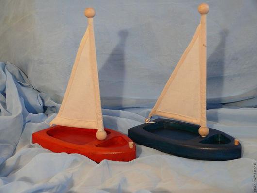 Развивающие игрушки ручной работы. Ярмарка Мастеров - ручная работа. Купить Деревянные кораблики( игрушка детская). Handmade. Тёмно-синий