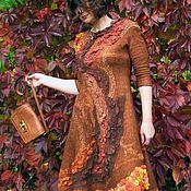 """Одежда ручной работы. Ярмарка Мастеров - ручная работа Валяное платье """"Блюз уходящего лета"""". Handmade."""