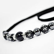 Украшения handmade. Livemaster - original item Men`s choker with hematite suede cord