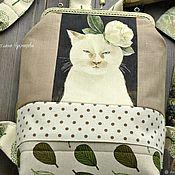 """Рюкзак женский рюкзак текстильный рюкзак с фермуаром """"Почти Пантера"""""""