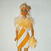 Куклы и игрушки ручной работы. Ярмарка Мастеров - ручная работа Акция см. блог Одежда для Барби Вязаное платье для Барби. Handmade.