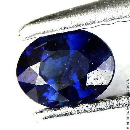 Для украшений ручной работы. Ярмарка Мастеров - ручная работа. Купить Сапфир синий. Handmade. Синий, природный камень, огранка