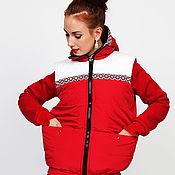 Одежда handmade. Livemaster - original item Vest Piping Russian Style Red. Handmade.