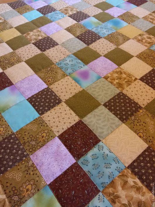 Текстиль, ковры ручной работы. Ярмарка Мастеров - ручная работа. Купить Лоскутное одеяло. Handmade. Бирюзовый, интерьер, американский хлопок