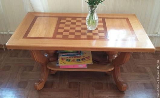 Мебель ручной работы. Ярмарка Мастеров - ручная работа. Купить Столик журнальный из дуба. Handmade. Бежевый, мебель из дуба, столик