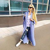Одежда ручной работы. Ярмарка Мастеров - ручная работа Пальто  вязаное, оверсайз из мохера ручной вязки. Handmade.