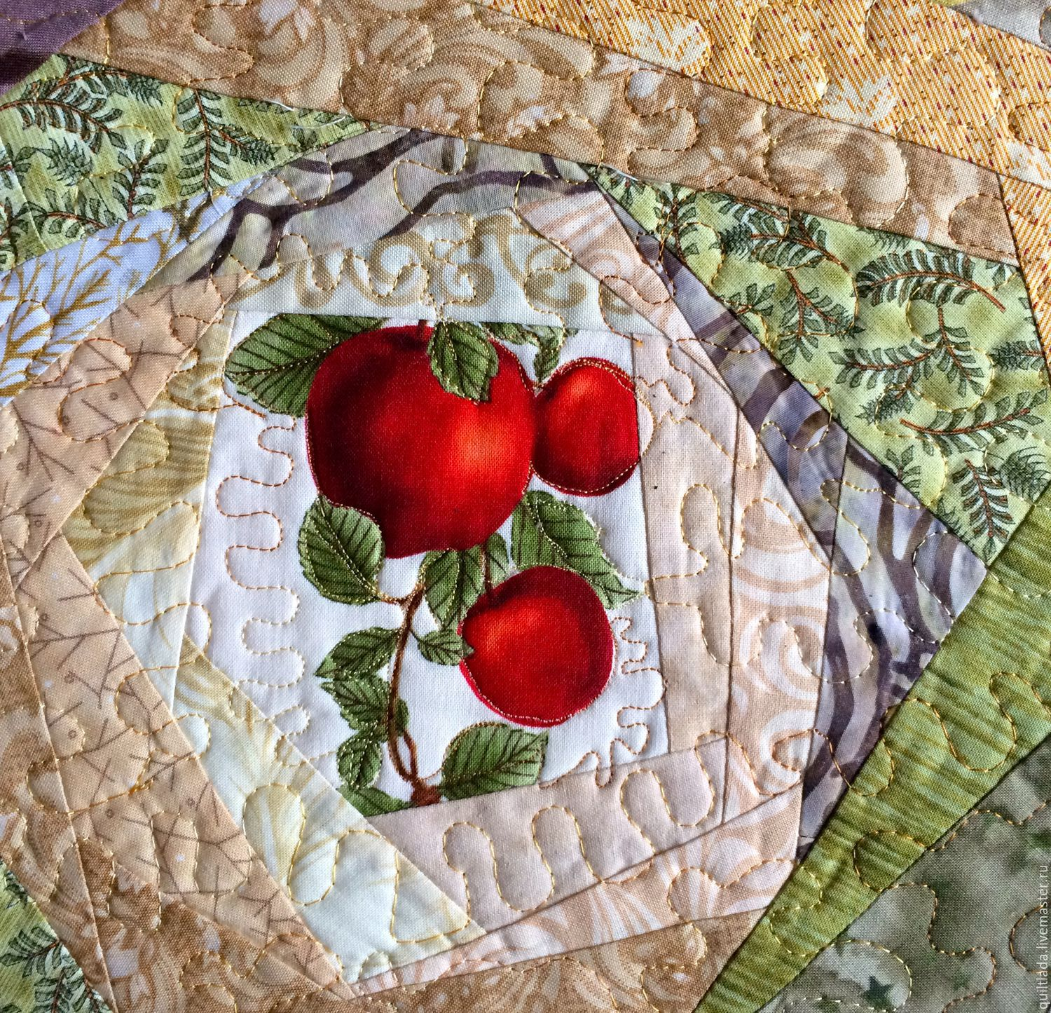 Kitchen handmade. Livemaster - handmade. Buy Copy of Lanchmats Random.Quilt, chocolate, quiltlada, for table