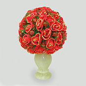 Цветы и флористика handmade. Livemaster - original item Colors of carnelian