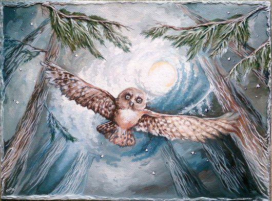 """Пейзаж ручной работы. Ярмарка Мастеров - ручная работа. Купить картина """"Крылья Леса"""". Handmade. Картина, купить картину пейзаж"""