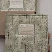 Канцелярские товары ручной работы. Ярмарка Мастеров - ручная работа Альбом для гербария Графика (А4, для 20 растений, крафт). Handmade.